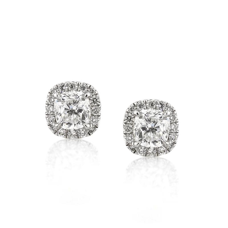 Jewelry, Earrings, Wedding Day Jewelry, Diamonds, Diamond earrings, Cushion cut