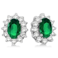 Jewelry, green, Earrings, White Gold, Wedding Day Jewelry, Diamonds, Emeralds, Allurez
