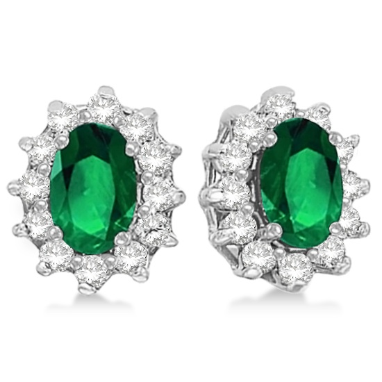 Earrings, Wedding Day Jewelry, Jewelry, Diamonds, Allurez, Emeralds, green, White Gold