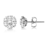 Jewelry, Earrings, White Gold, Wedding Day Jewelry, Diamonds, Allurez
