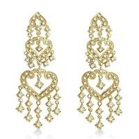 Jewelry, gold, Earrings, Yellow Gold, Wedding Day Jewelry, Diamonds, Allurez