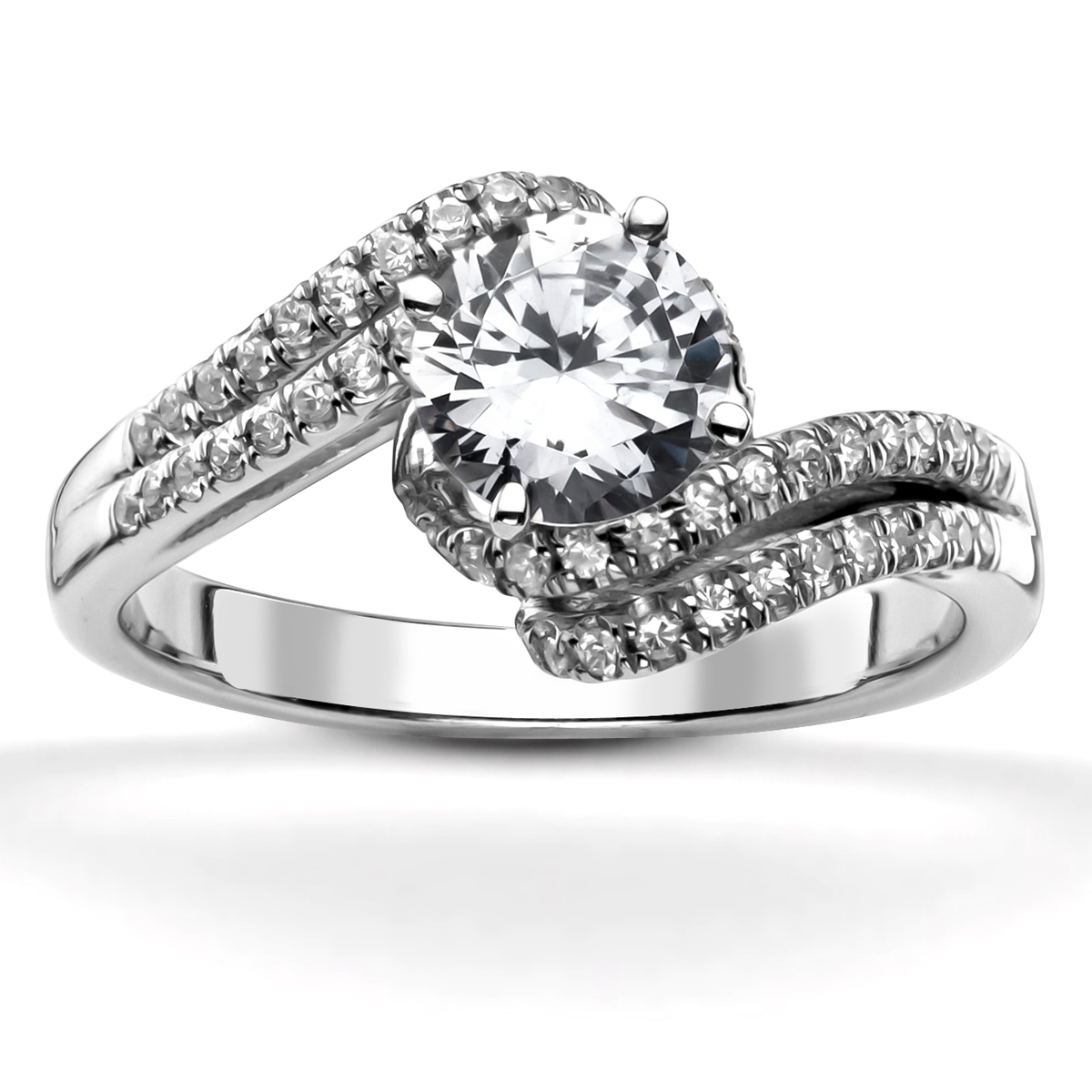Jewelry, Women's Rings, White Gold, Platinum, Engagement Rings, Radiant Cut Engagement Ring