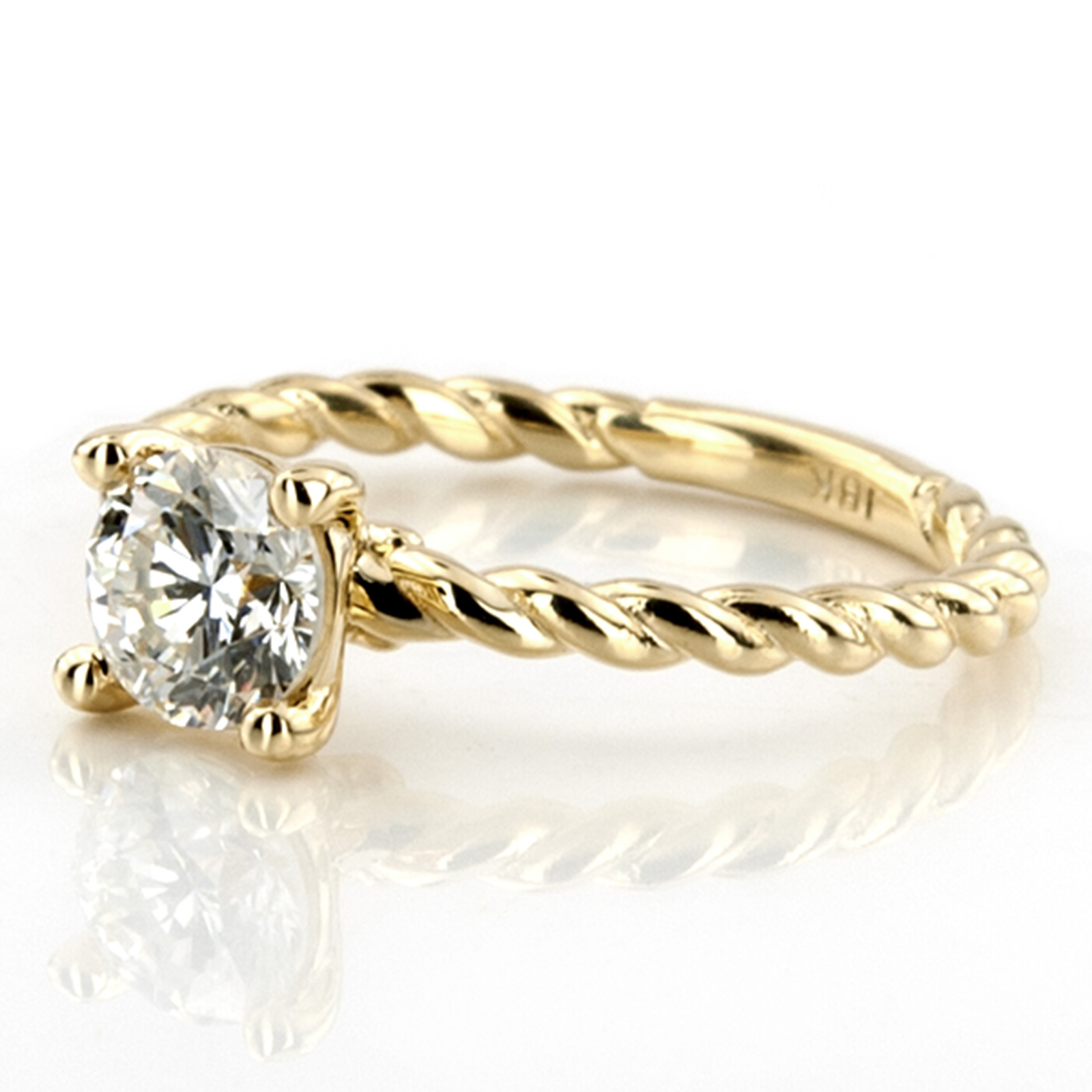 Jewelry, Women's Rings, Yellow Gold, Engagement Rings, Radiant Cut Engagement Ring
