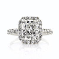 Jewelry, Women's Rings, White Gold, Platinum, Engagement Rings, Radiant Cut Engagement Ring, Radiant