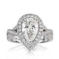 Jewelry, Women's Rings, White Gold, Platinum, Engagement Rings, Pear Cut Engagement Rings, Pear Cut Engagement Ring