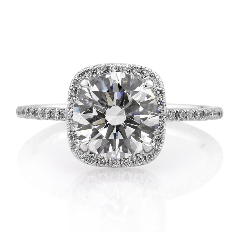 Jewelry, Women's Rings, White Gold, Platinum, Engagement Rings, Radiant Cut Engagement Ring, Diamond rings, Round Diamonds