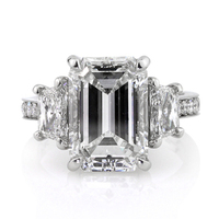 Jewelry, Women's Rings, White Gold, Platinum, Engagement Rings, Emerald Cut Engagement Ring