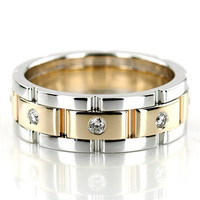 Jewelry, White Gold, Yellow Gold, Platinum, Wedding Bands, Wedding Rings, Diamonds, Men's Wedding Rings