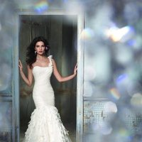 Wedding Dresses, One-Shoulder Wedding Dresses, Lace Wedding Dresses, Fashion, ivory, Flowers, Shabby Chic, Mermaid, Lace, Jim hjelm, Trumpet, Chiffon, Organza, Silk, Dropped, Sleeveless, One-shoulder, organza wedding dresses, Flower Wedding Dresses, Chiffon Wedding Dresses, Silk Wedding Dresses, Shabby Chic Wedding Dresses