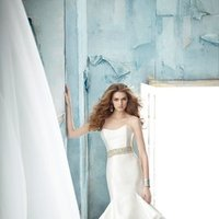 Wedding Dresses, Sweetheart Wedding Dresses, Ruffled Wedding Dresses, Fashion, white, ivory, Mermaid, Jim hjelm, Sweetheart, Strapless, Strapless Wedding Dresses, Beading, Trumpet, Floor, Silk, Ruffles, Tiers, Dropped, Beaded Wedding Dresses, sleevless, Silk Wedding Dresses, Floor Wedding Dresses, Tiered Wedding Dresses