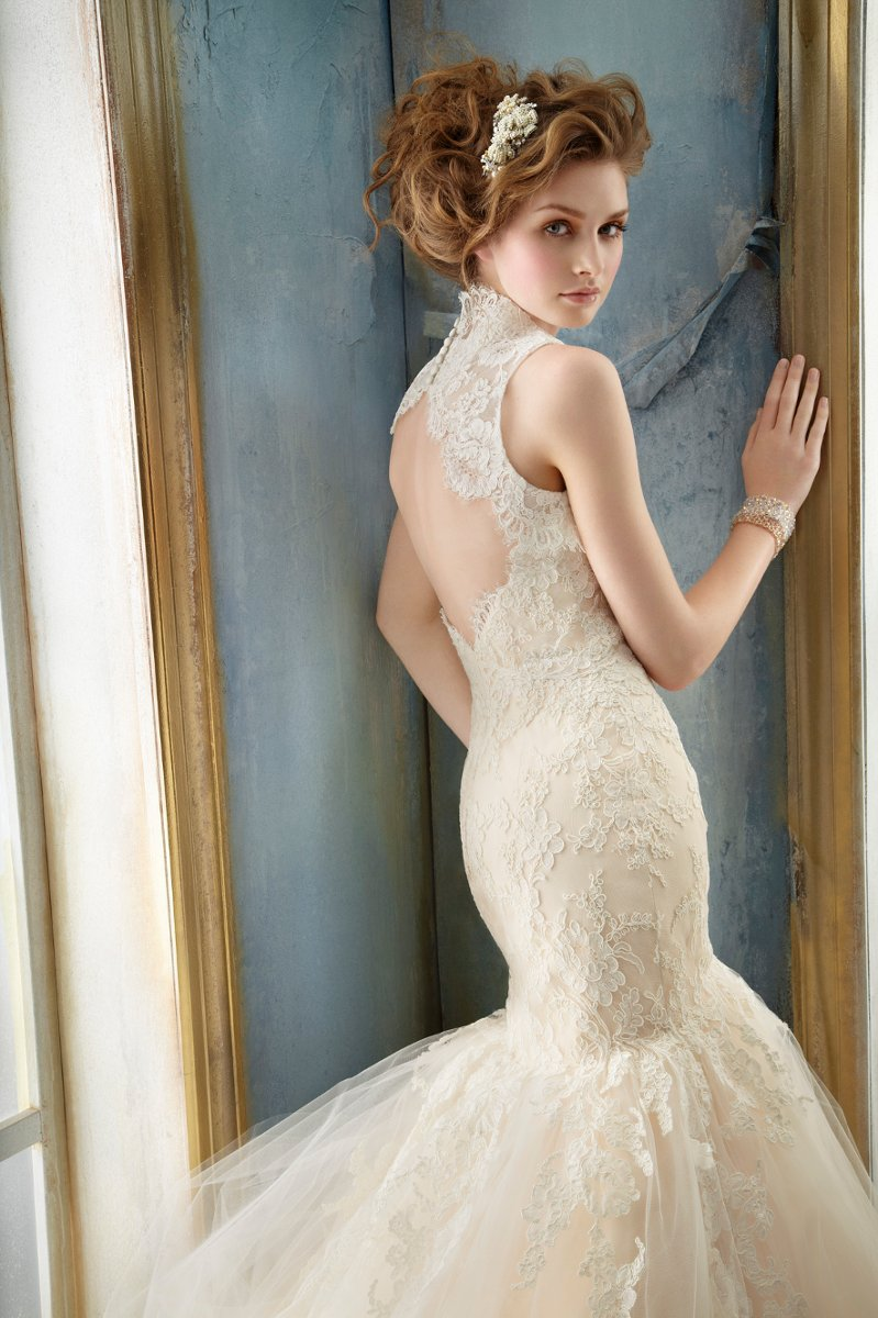 Wedding Dresses, Sweetheart Wedding Dresses, Lace Wedding Dresses, Vintage Wedding Dresses, Fashion, white, ivory, Vintage, Shabby Chic, Mermaid, Lace, Jim hjelm, Sweetheart, Strapless, Strapless Wedding Dresses, Fit and flare, Tulle, Trumpet, Floor, Bolero, Jacket, Dropped, Sleeveless, tulle wedding dresses, Floor Wedding Dresses, Shabby Chic Wedding Dresses