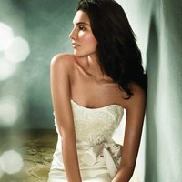 Wedding Dresses, Sweetheart Wedding Dresses, Fashion, white, ivory, Modern, Flowers, Mermaid, Jim hjelm, Sweetheart, Strapless, Strapless Wedding Dresses, Sash, Belt, Trumpet, Satin, Floor, Silk, Sleeveless, Modern Wedding Dresses, natual, satin wedding dresses, Flower Wedding Dresses, Silk Wedding Dresses, Floor Wedding Dresses