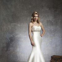 Fashion, ivory, Beading, Empire, Satin, Floor, Wedding dress, Justin Alexander, Beaded Wedding Dresses, satin wedding dresses, Floor Wedding Dresses