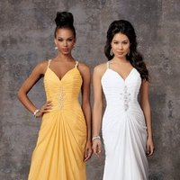 Wedding Dresses, Romantic Wedding Dresses, Fashion, white, yellow, orange, Summer, Romantic, Spaghetti straps, Beading, V-neck, V-neck Wedding Dresses, Sheath, Floor, Chiffon, Ballroom, Sleeveless, Ruching, Beaded Wedding Dresses, moments by jordan, Spahetti Strap Wedding Dresses, Sheath Wedding Dresses, Chiffon Wedding Dresses, Summer Wedding Dresses, Floor Wedding Dresses