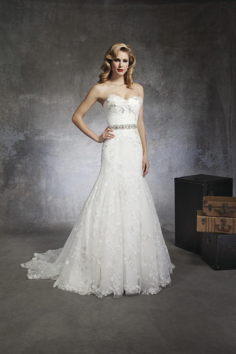 Lace Wedding Dresses, Fashion, white, Lace, Beading, Sheath, Wedding dress, Justin Alexander, Beaded Wedding Dresses, Belt/Sash, Sheath Wedding Dresses