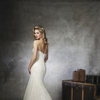 Sweetheart Wedding Dresses, Lace Wedding Dresses, Fashion, white, Lace, Sweetheart, Strapless, Strapless Wedding Dresses, Floor, Wedding dress, Justin Alexander, Ruching, Floor Wedding Dresses