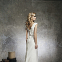 A-line Wedding Dresses, Romantic Wedding Dresses, Fashion, white, Romantic, A-line, Floor, Wedding dress, Natural, Silk, Justin Alexander, Sash/Belt, cap sleeve, Silk Wedding Dresses, Floor Wedding Dresses, Sash Wedding Dresses, Belt Wedding Dresses