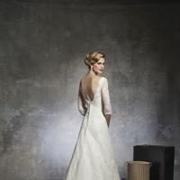 Lace Wedding Dresses, Romantic Wedding Dresses, Vintage Wedding Dresses, Fashion, Vintage, Romantic, Lace, Floor, Wedding dress, Justin Alexander, Backless, 3/4 Sleeves, Floor Wedding Dresses