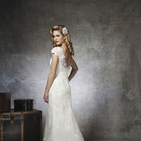 Lace Wedding Dresses, Vintage Wedding Dresses, Hollywood Glam Wedding Dresses, Fashion, ivory, Vintage, Shabby Chic, Lace, Cap sleeves, Floor, Wedding dress, Justin Alexander, Backless, hollywood glam, Floor Wedding Dresses, Shabby Chic Wedding Dresses