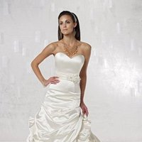 Wedding Dresses, Sweetheart Wedding Dresses, Mermaid Wedding Dresses, Lace Wedding Dresses, Fashion, Classic, Flowers, Lace, Sweetheart, Strapless, Strapless Wedding Dresses, Beading, Satin, Floor, Dropped, Pick-ups, Sleeveless, Ruching, Mermaid/Trumpet, Sash/Belt, Beaded Wedding Dresses, trumpet wedding dresses, Classic Wedding Dresses, Kathy Ireland by 2be - Bridal, satin wedding dresses, Flower Wedding Dresses, Floor Wedding Dresses, Sash Wedding Dresses, Belt Wedding Dresses