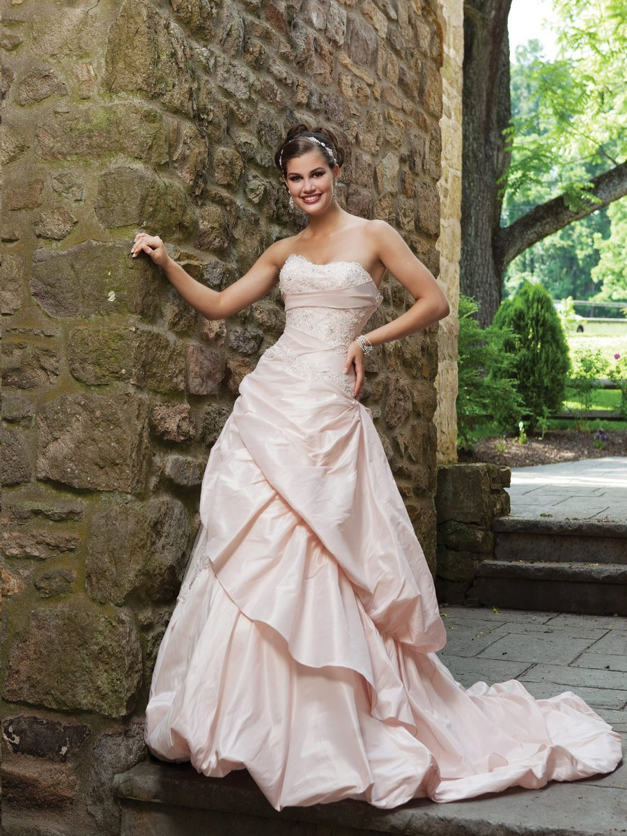 Wedding Dresses, Sweetheart Wedding Dresses, Ball Gown Wedding Dresses, Lace Wedding Dresses, Fashion, white, ivory, Modern, Lace, Sweetheart, Strapless, Strapless Wedding Dresses, Beading, Floor, Taffeta, Pick-ups, Sleeveless, Ruching, Ball gown, Modern Wedding Dresses, Beaded Wedding Dresses, taffeta wedding dresses, Kathy Ireland by 2be - Bridal, Floor Wedding Dresses