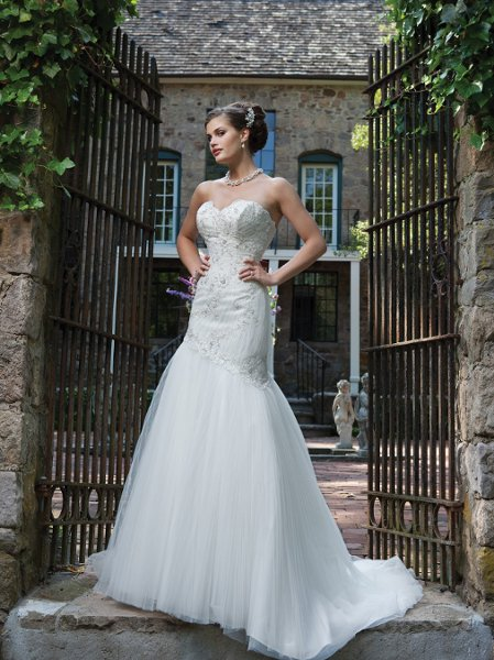 Wedding Dresses, Sweetheart Wedding Dresses, Mermaid Wedding Dresses, Fashion, white, ivory, Sweetheart, Strapless, Strapless Wedding Dresses, Spaghetti straps, Beading, Tulle, Floor, Hip, Dropped, Pleats, Sleeveless, Mermaid/Trumpet, Beaded Wedding Dresses, trumpet wedding dresses, Kathy Ireland by 2be - Bridal, tulle wedding dresses, Spahetti Strap Wedding Dresses, Floor Wedding Dresses, Hip Wedding Dresses