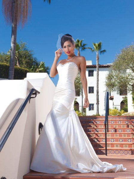 Wedding Dresses, Sweetheart Wedding Dresses, Mermaid Wedding Dresses, Fashion, white, ivory, Fall, Modern, Sweetheart, Strapless, Strapless Wedding Dresses, Beading, Satin, Floor, Pleats, Sleeveless, Mermaid/Trumpet, Modern Wedding Dresses, Beaded Wedding Dresses, trumpet wedding dresses, Kathy Ireland by 2be - Bridal, satin wedding dresses, Fall Wedding Dresses, Floor Wedding Dresses