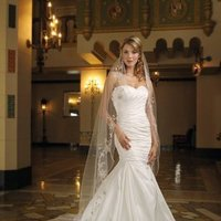 Wedding Dresses, Sweetheart Wedding Dresses, Mermaid Wedding Dresses, Fashion, white, pink, gold, Modern, Sweetheart, Strapless, Strapless Wedding Dresses, Floor, Silk, Taffeta, Pleats, Sleeveless, Ruching, Mermaid/Trumpet, Fit-n-Flare, Modern Wedding Dresses, taffeta wedding dresses, trumpet wedding dresses, Kathy Ireland by 2be - Bridal, Silk Wedding Dresses, Floor Wedding Dresses