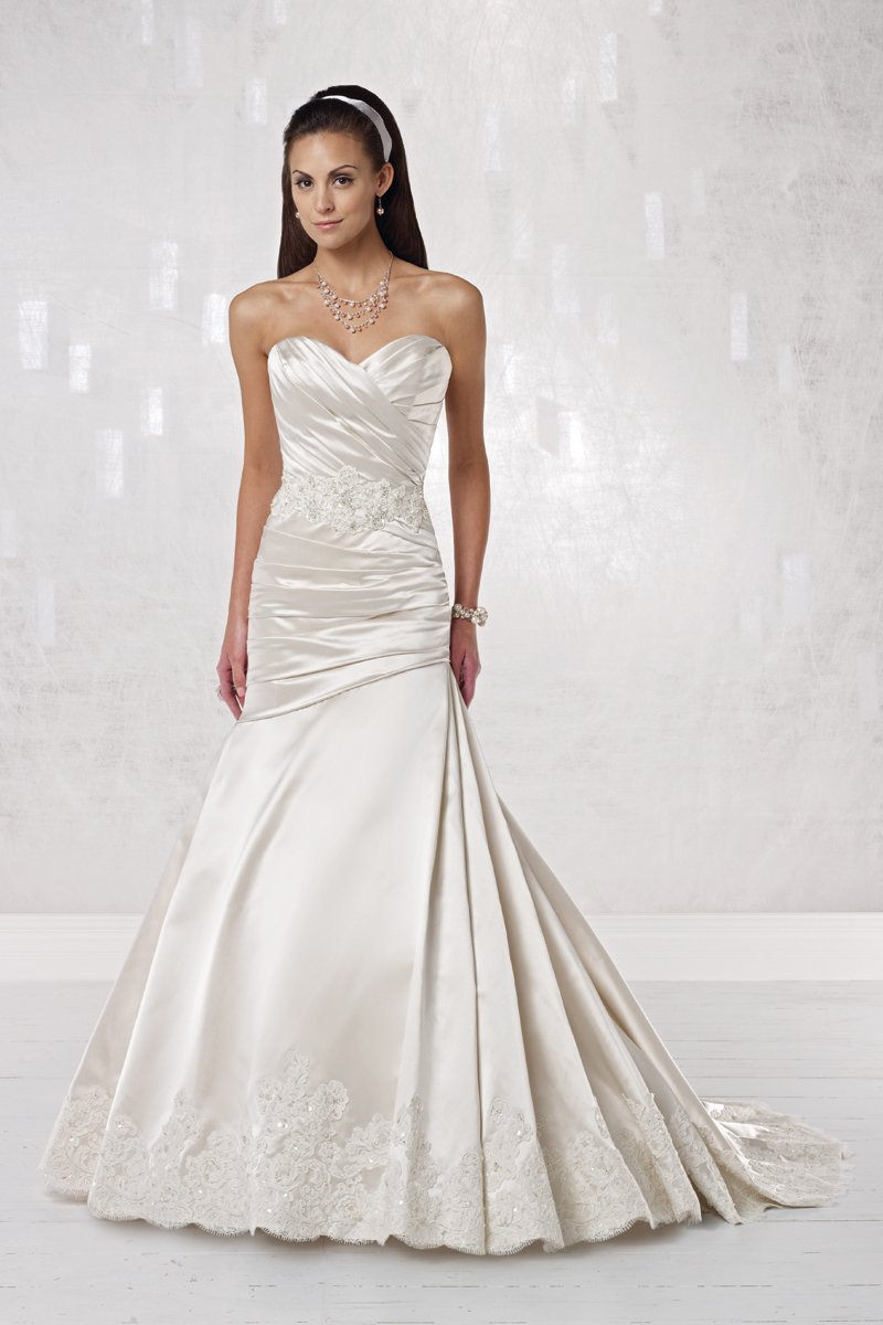 Wedding Dresses, Fashion, Beading, Dropped, Fit-n-Flare, Floor, Halter, ivory, Kathy Ireland by 2be - Bridal, Lace, Mermaid/Trumpet, Modern, Pleats, Ruching, Satin, Sleeveless, Spaghetti straps, Strapless, Sweetheart, white, halter wedding dresses, Spahetti Strap Wedding Dresses, Strapless Wedding Dresses, Sweetheart Wedding Dresses, Floor Wedding Dresses, Beaded Wedding Dresses, Lace Wedding Dresses, satin wedding dresses, Modern Wedding Dresses, Mermaid Wedding Dresses, trumpet wedding dresses