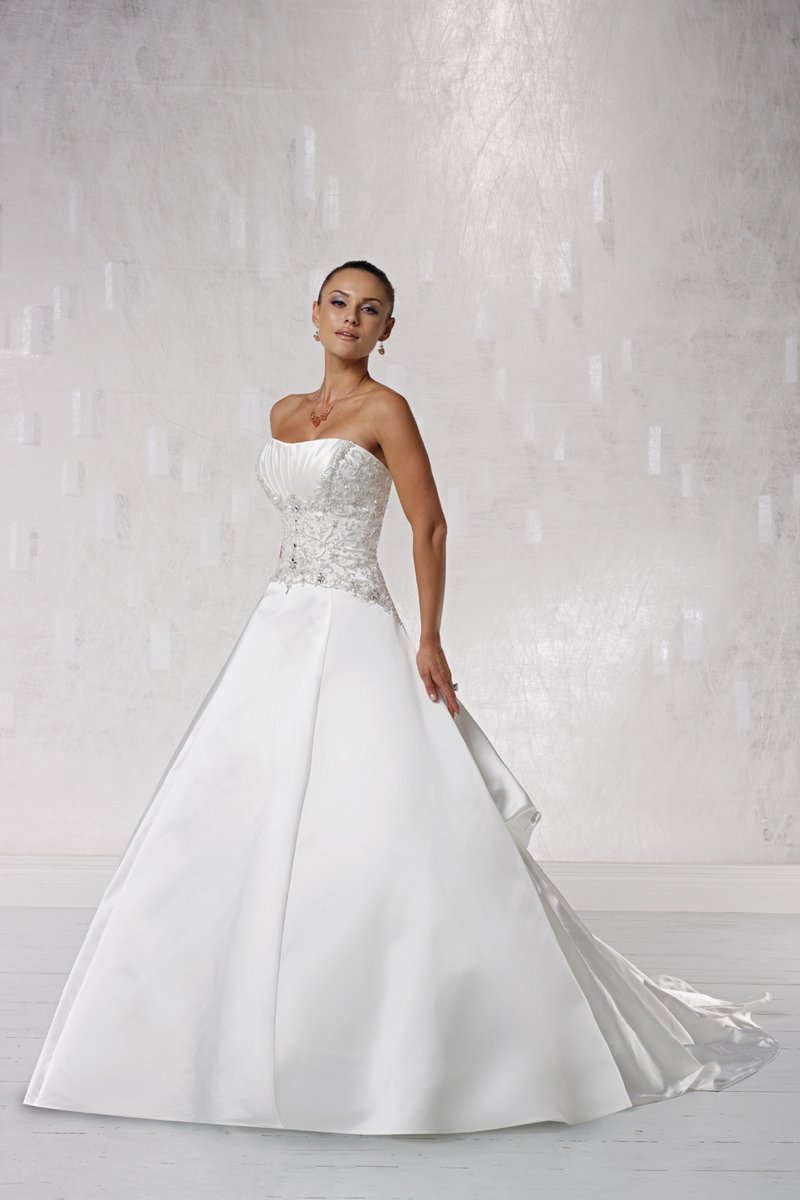 Wedding Dresses, Ball Gown Wedding Dresses, Fashion, white, ivory, Modern, Strapless, Strapless Wedding Dresses, Spaghetti straps, Beading, Halter, Satin, Floor, Pleats, Sleeveless, Ball gown, Modern Wedding Dresses, halter wedding dresses, Beaded Wedding Dresses, Kathy Ireland by 2be - Bridal, satin wedding dresses, Spahetti Strap Wedding Dresses, Floor Wedding Dresses