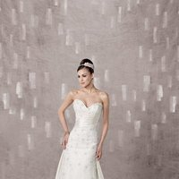 Wedding Dresses, Sweetheart Wedding Dresses, A-line Wedding Dresses, Lace Wedding Dresses, Fashion, white, ivory, Classic, Lace, Sweetheart, Strapless, Strapless Wedding Dresses, A-line, Beading, Satin, Floor, Pleats, Beaded Wedding Dresses, Classic Wedding Dresses, Kathy Ireland by 2be - Bridal, satin wedding dresses, Floor Wedding Dresses