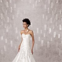 Wedding Dresses, Sweetheart Wedding Dresses, A-line Wedding Dresses, Ruffled Wedding Dresses, Lace Wedding Dresses, Fashion, white, ivory, Classic, Lace, Sweetheart, Strapless, Strapless Wedding Dresses, A-line, Beading, Satin, Floor, Organza, Ruffles, Dropped, Pleats, Sleeveless, Beaded Wedding Dresses, organza wedding dresses, Classic Wedding Dresses, Kathy Ireland by 2be - Bridal, satin wedding dresses, Floor Wedding Dresses