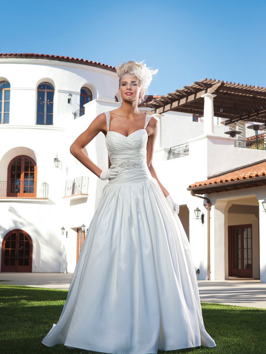 Wedding Dresses, Sweetheart Wedding Dresses, Ball Gown Wedding Dresses, Fashion, white, ivory, Fall, Classic, Sweetheart, Strapless, Strapless Wedding Dresses, Beading, Floor, Taffeta, Pleats, Sleeveless, Ball gown, Beaded Wedding Dresses, taffeta wedding dresses, Classic Wedding Dresses, Kathy Ireland by 2be - Bridal, Fall Wedding Dresses, Floor Wedding Dresses
