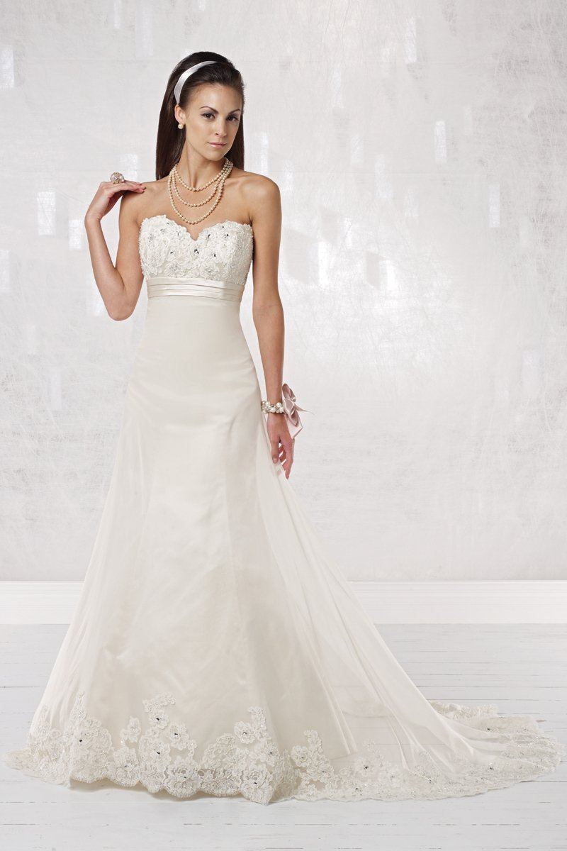 Wedding Dresses, Sweetheart Wedding Dresses, A-line Wedding Dresses, Lace Wedding Dresses, Fashion, white, ivory, Rustic, Lace, Sweetheart, Strapless, Strapless Wedding Dresses, A-line, Beading, Empire, Satin, Organza, Silk, Sleeveless, Sash/Belt, rustic wedding dresses, Beaded Wedding Dresses, organza wedding dresses, Kathy Ireland by 2be - Bridal, satin wedding dresses, Silk Wedding Dresses, Sash Wedding Dresses, Belt Wedding Dresses