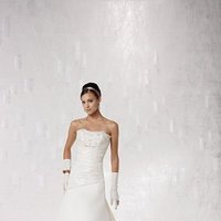 Wedding Dresses, A-line Wedding Dresses, Lace Wedding Dresses, Fashion, white, ivory, Lace, Strapless, Strapless Wedding Dresses, A-line, Spaghetti straps, Beading, Floor, Hip, Dropped, Taffeta, Sleeveless, Ruching, Beaded Wedding Dresses, taffeta wedding dresses, Kathy Ireland by 2be - Bridal, Spahetti Strap Wedding Dresses, Floor Wedding Dresses, Hip Wedding Dresses