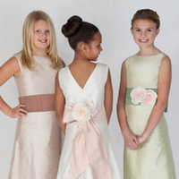 Flower Girl Dresses, A-line Wedding Dresses, Fashion, A-line, Natural waist, Ribbons, Sashes, Silk, Katina katoo, floor length, bateau, Bateau Wedding Dresses, fall 2012, Silk Wedding Dresses