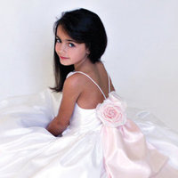 Flower Girl Dresses, Ball Gown Wedding Dresses, Fashion, Natural waist, Ribbons, Sashes, Taffeta, Ball gown, Katina katoo, bateau, Bateau Wedding Dresses, taffeta wedding dresses, no sleeve, ankle length, fall 2012