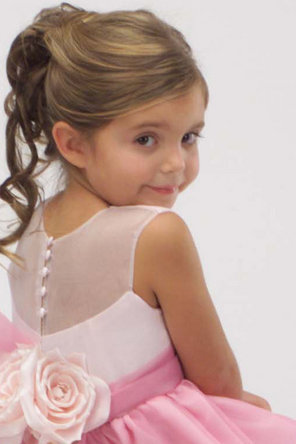 Flower Girl Dresses, Ball Gown Wedding Dresses, Fashion, Natural waist, Jewel, Ribbons, Sashes, Organza, Sleeveless, Ball gown, Katina katoo, organza wedding dresses, ankle length, fall 2012, Jewel Wedding Dresses