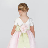 Flower Girl Dresses, Ball Gown Wedding Dresses, Fashion, Natural waist, Ribbons, Sashes, Taffeta, Ball gown, Katina katoo, bateau, Bateau Wedding Dresses, taffeta wedding dresses, ankle length, fall 2012