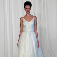 Wedding Dresses, Ball Gown Wedding Dresses, Romantic Wedding Dresses, Vintage Wedding Dresses, Fashion, ivory, Vintage, Romantic, Spaghetti straps, Beading, V-neck, V-neck Wedding Dresses, Floor, Organza, Natural, Sleeveless, Ruching, Ball gown, historic site, Kelly Faetanini, Beaded Wedding Dresses, organza wedding dresses, Spahetti Strap Wedding Dresses, Floor Wedding Dresses
