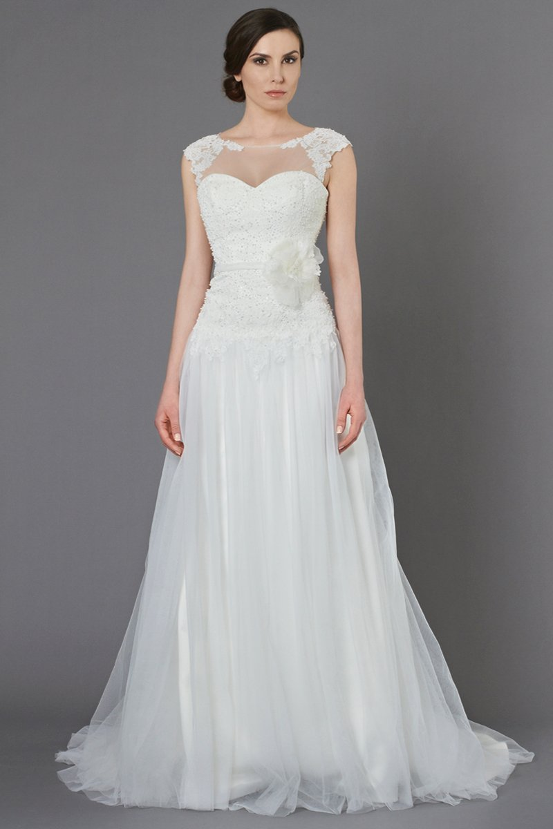 Wedding Dresses, Sweetheart Wedding Dresses, Illusion Neckline Wedding Dresses, A-line Wedding Dresses, Lace Wedding Dresses, Fashion, ivory, Flowers, Shabby Chic, Lace, Sweetheart, A-line, Beading, Tulle, Floor, Country, Natural, Illusion, Sash/Belt, cap sleeve, Kelly Faetanini, Beaded Wedding Dresses, tulle wedding dresses, Flower Wedding Dresses, Floor Wedding Dresses, Shabby Chic Wedding Dresses, Sash Wedding Dresses, Belt Wedding Dresses