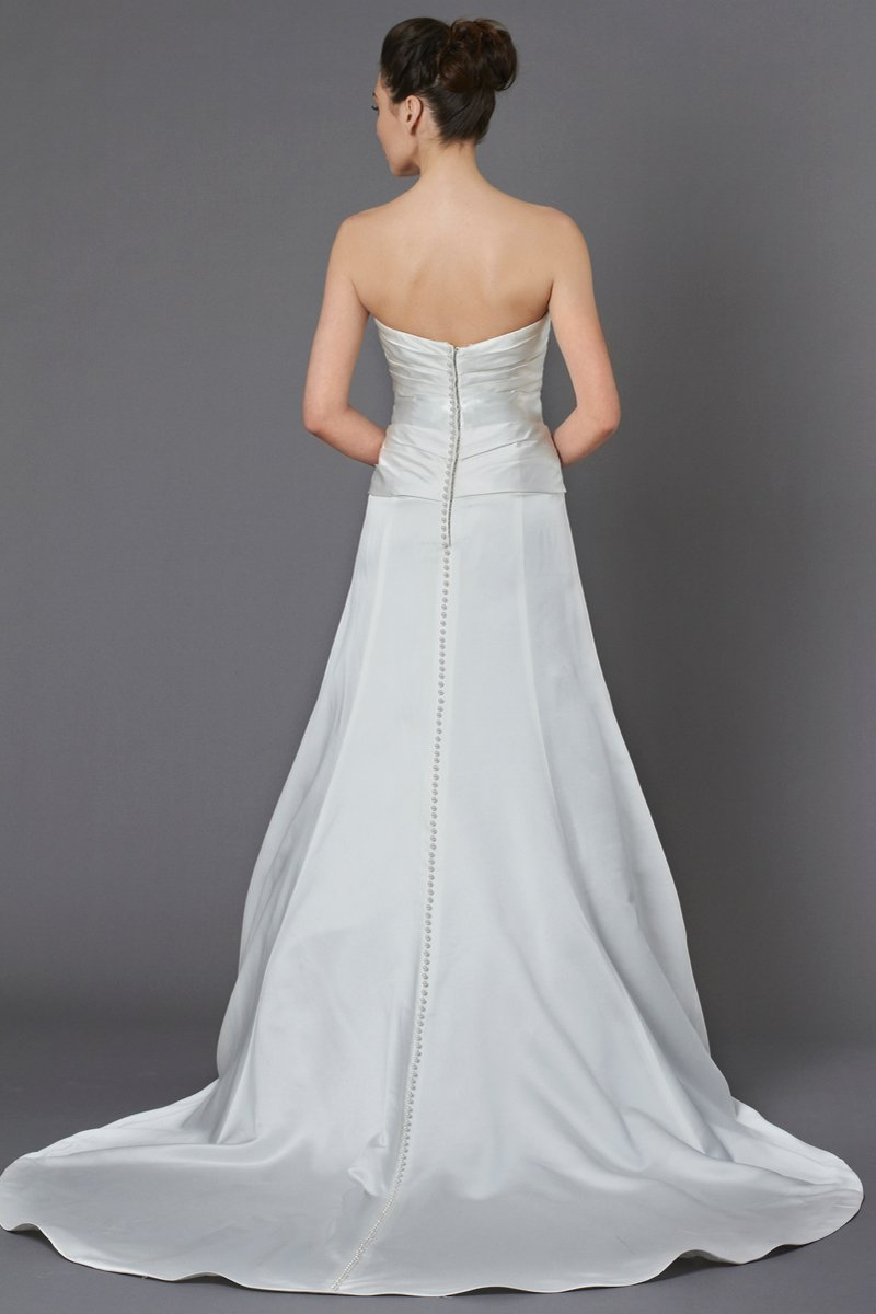 Wedding Dresses, A-line Wedding Dresses, Fashion, ivory, Modern, Strapless, Strapless Wedding Dresses, A-line, Beading, Satin, Floor, Ballroom, Hip, Dropped, Museum, Pleats, Sash/Belt, Modern Wedding Dresses, Kelly Faetanini, Beaded Wedding Dresses, satin wedding dresses, Floor Wedding Dresses, Hip Wedding Dresses, Sash Wedding Dresses, Belt Wedding Dresses