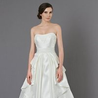Wedding Dresses, Ball Gown Wedding Dresses, Ruffled Wedding Dresses, Vintage Wedding Dresses, Fashion, ivory, Vintage, Strapless, Strapless Wedding Dresses, Beading, Floor, Formal, Natural, Ballroom, Ruffles, Ruching, Ball gown, Shantung, Sash/Belt, Kelly Faetanini, Beaded Wedding Dresses, Formal Wedding Dresses, Floor Wedding Dresses, Shantung Wedding Dresses, Sash Wedding Dresses, Belt Wedding Dresses
