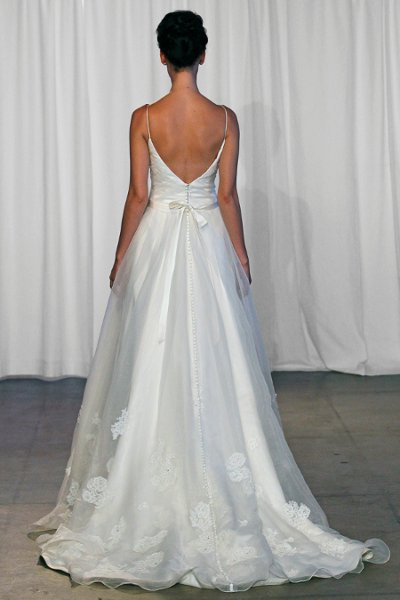 Wedding Dresses, Ball Gown Wedding Dresses, Romantic Wedding Dresses, Vintage Wedding Dresses, Fashion, ivory, Vintage, Romantic, Spaghetti straps, Beading, V-neck, V-neck Wedding Dresses, Floor, Organza, Natural, Ballroom, Sleeveless, Ruching, Ball gown, Kelly Faetanini, Beaded Wedding Dresses, organza wedding dresses, Spahetti Strap Wedding Dresses, Floor Wedding Dresses