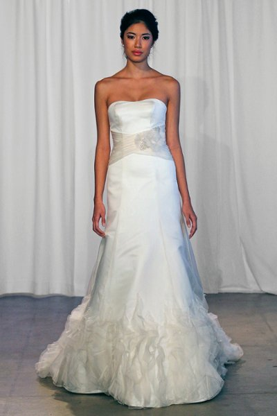 Wedding Dresses, A-line Wedding Dresses, Ruffled Wedding Dresses, Fashion, ivory, Rustic, Barn, Strapless, Strapless Wedding Dresses, A-line, Beading, Floor, Formal, Organza, Natural, Ruffles, Sash/Belt, historic site, rustic wedding dresses, Kelly Faetanini, Beaded Wedding Dresses, organza wedding dresses, Formal Wedding Dresses, Floor Wedding Dresses, Sash Wedding Dresses, Belt Wedding Dresses