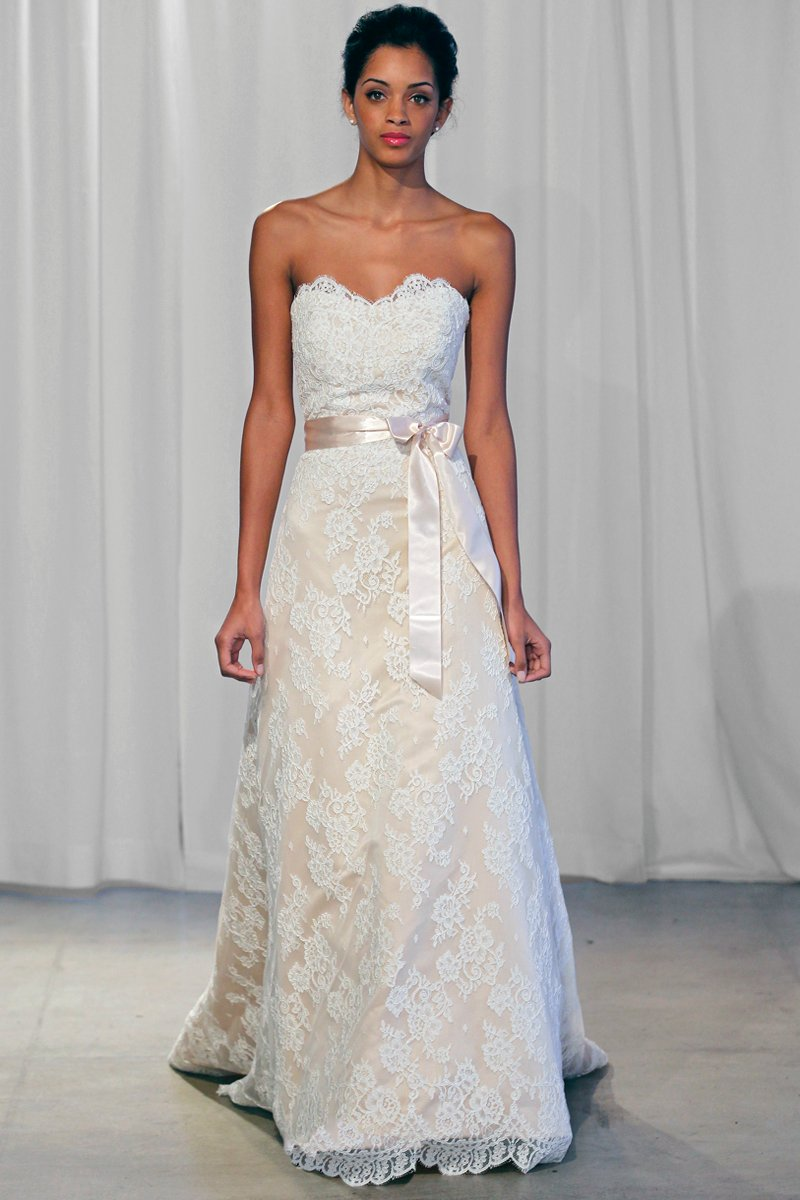 Wedding Dresses, Sweetheart Wedding Dresses, A-line Wedding Dresses, Lace Wedding Dresses, Vintage Wedding Dresses, Fashion, ivory, Fall, Vintage, Classic, Lace, Sweetheart, Strapless, Strapless Wedding Dresses, A-line, Floor, Country, Natural, Sash/Belt, historic site, Kelly Faetanini, Classic Wedding Dresses, Fall Wedding Dresses, Floor Wedding Dresses, Sash Wedding Dresses, Belt Wedding Dresses