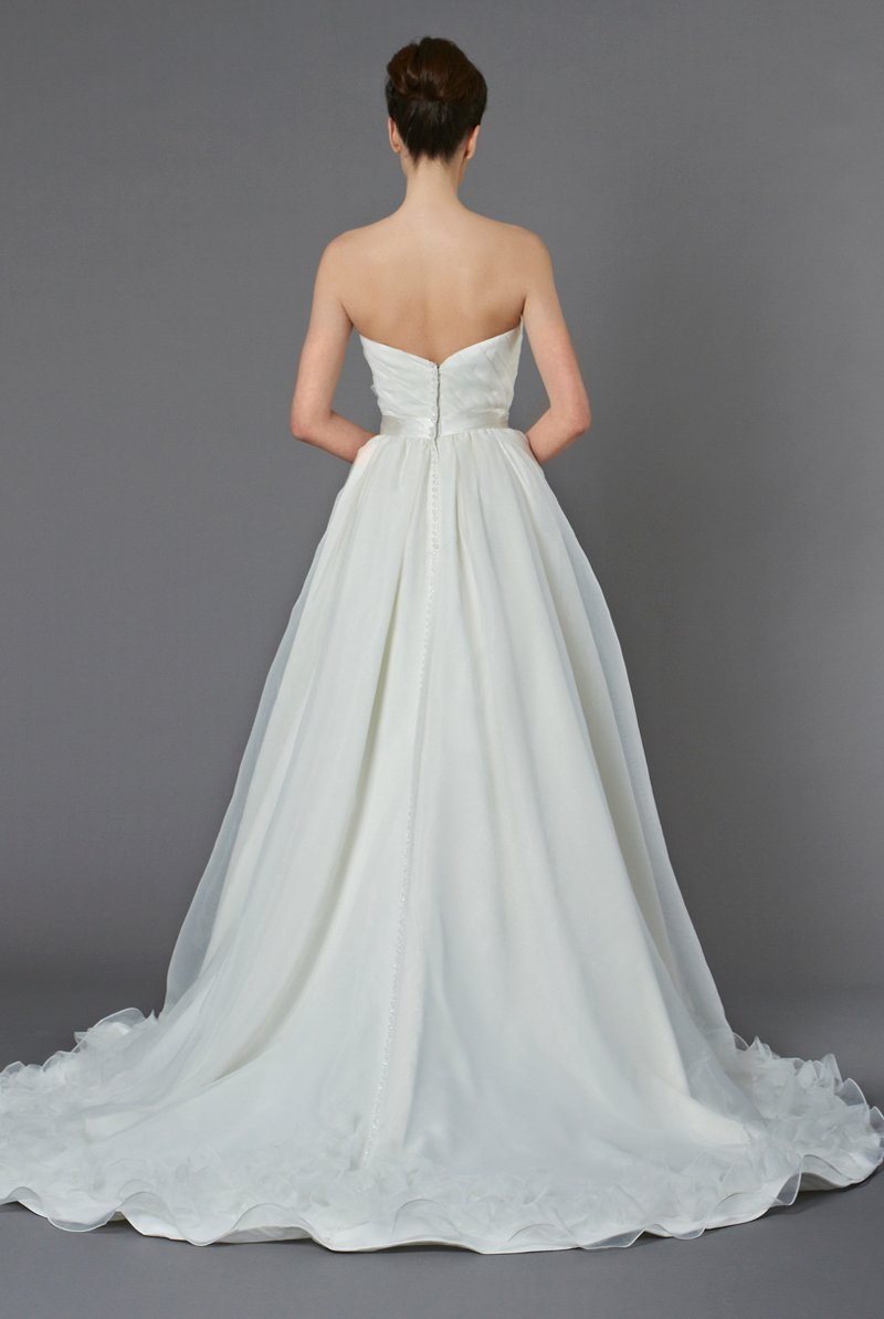 Wedding Dresses, Ball Gown Wedding Dresses, Ruffled Wedding Dresses, Fashion, ivory, Flowers, Shabby Chic, Strapless, Strapless Wedding Dresses, Floor, Formal, Organza, Natural, Ballroom, Ruffles, Pleats, Ball gown, Sash/Belt, historic site, Kelly Faetanini, organza wedding dresses, Flower Wedding Dresses, Formal Wedding Dresses, Floor Wedding Dresses, Shabby Chic Wedding Dresses, Sash Wedding Dresses, Belt Wedding Dresses