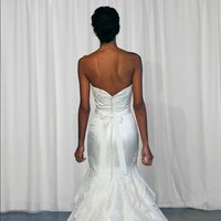 Wedding Dresses, Mermaid Wedding Dresses, Ruffled Wedding Dresses, Romantic Wedding Dresses, Fashion, ivory, Romantic, Strapless, Strapless Wedding Dresses, Beading, Satin, Floor, Formal, Natural, Ballroom, Ruffles, Mermaid/Trumpet, Sash/Belt, historic site, Kelly Faetanini, Beaded Wedding Dresses, trumpet wedding dresses, satin wedding dresses, Formal Wedding Dresses, Floor Wedding Dresses, Sash Wedding Dresses, Belt Wedding Dresses