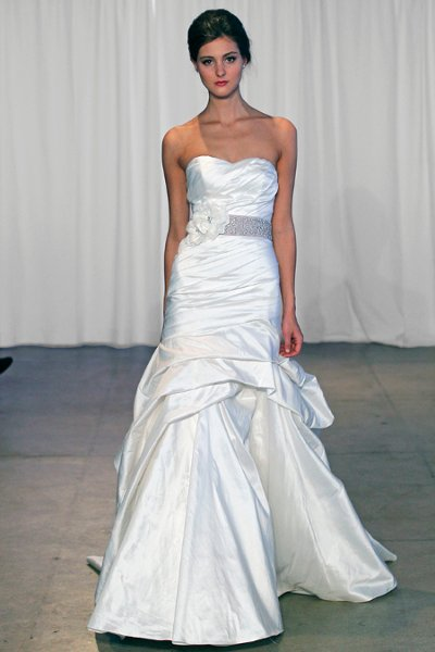 Wedding Dresses, Sweetheart Wedding Dresses, Mermaid Wedding Dresses, Fashion, ivory, Sweetheart, Strapless, Strapless Wedding Dresses, Beading, Floor, Formal, Natural, Ballroom, Pick-ups, Ruching, Shantung, Mermaid/Trumpet, Sash/Belt, Kelly Faetanini, Beaded Wedding Dresses, trumpet wedding dresses, Formal Wedding Dresses, Floor Wedding Dresses, Shantung Wedding Dresses, Sash Wedding Dresses, Belt Wedding Dresses