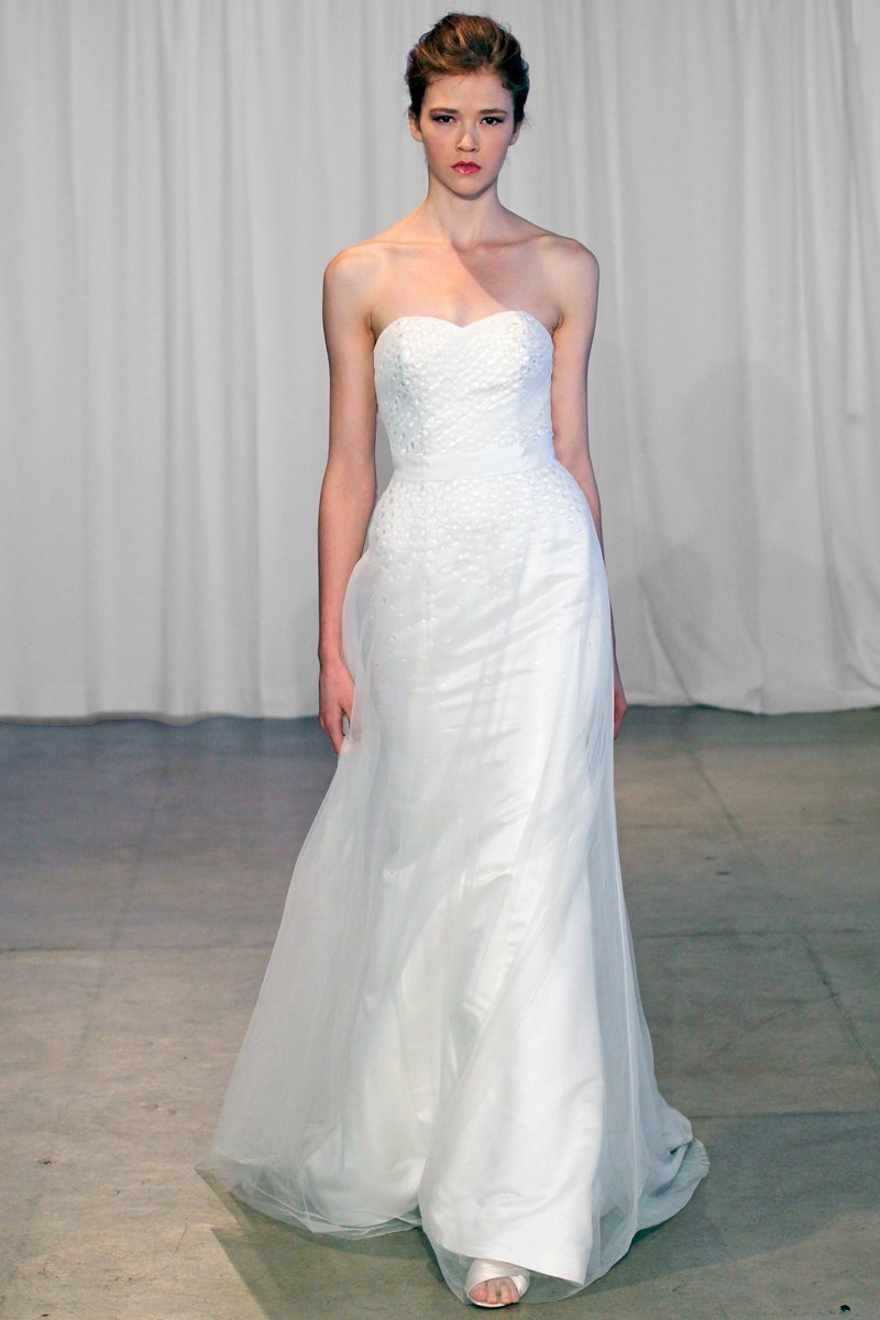 Wedding Dresses, Sweetheart Wedding Dresses, Beach Wedding Dresses, Fashion, ivory, Beach, Garden, Destination, Sweetheart, Strapless, Strapless Wedding Dresses, Beading, Sheath, Tulle, Floor, Natural, Sash/Belt, Kelly Faetanini, Beaded Wedding Dresses, tulle wedding dresses, Sheath Wedding Dresses, Floor Wedding Dresses, Sash Wedding Dresses, Belt Wedding Dresses